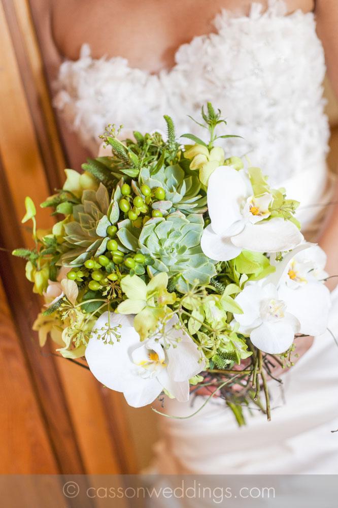 industrial bridal bouquet