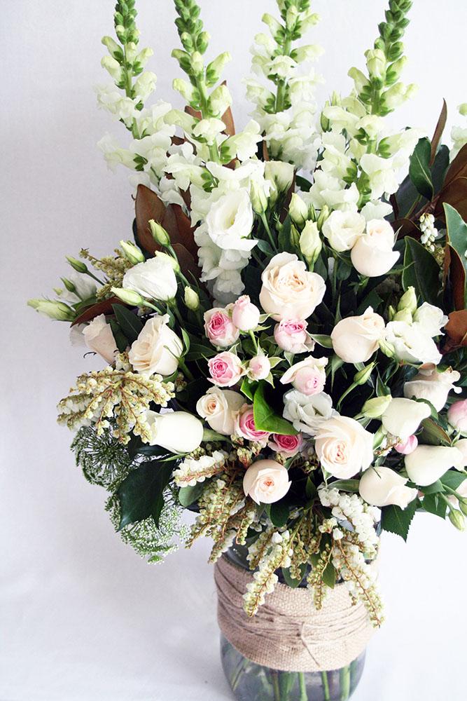 Garden Feature Arrangements - The White Orchid Floral Design