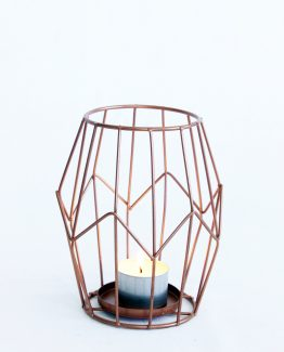 INDUSTRIAL Copper Tealight Holder. Image by The White Orchid Floral Design.