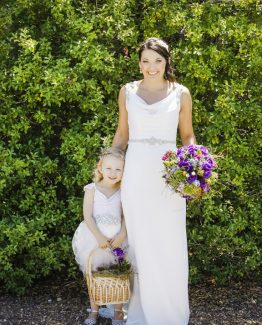 GARDEN Flower Girl with fresh petal basket.  Image by Panache Photography.